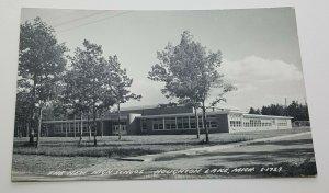 New High School Houghton Lake Michigan Vintage Postcard
