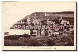 Postcard Old Wood Cise Chalets And Cliffs