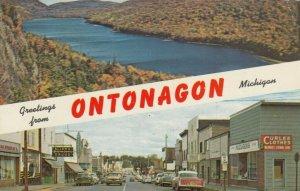 ONTONAGON , Michigan , 1964 ; River Street