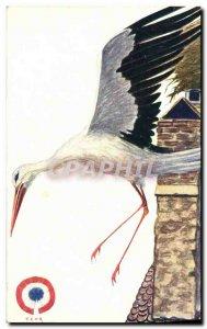 Old Postcard Folklore Alsace Igor Stork d & # 39Alsace