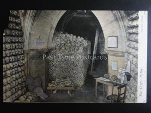 Kent HYTHE St Leonard's Church Crypt SKULLS & BONES c1905 by Upton's Series