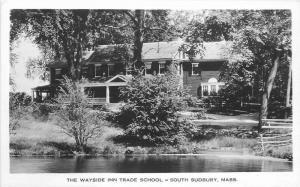 1920s South Sudbury Massachusetts Wayside Inn Trade School RPPC real photo 12149