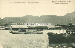 mauritius, PORT LOUIS, Bassin du Mauritius Dock (1910s)