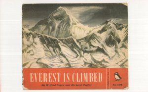 Everest Is Climbed 1954 Puffin Book Postcard