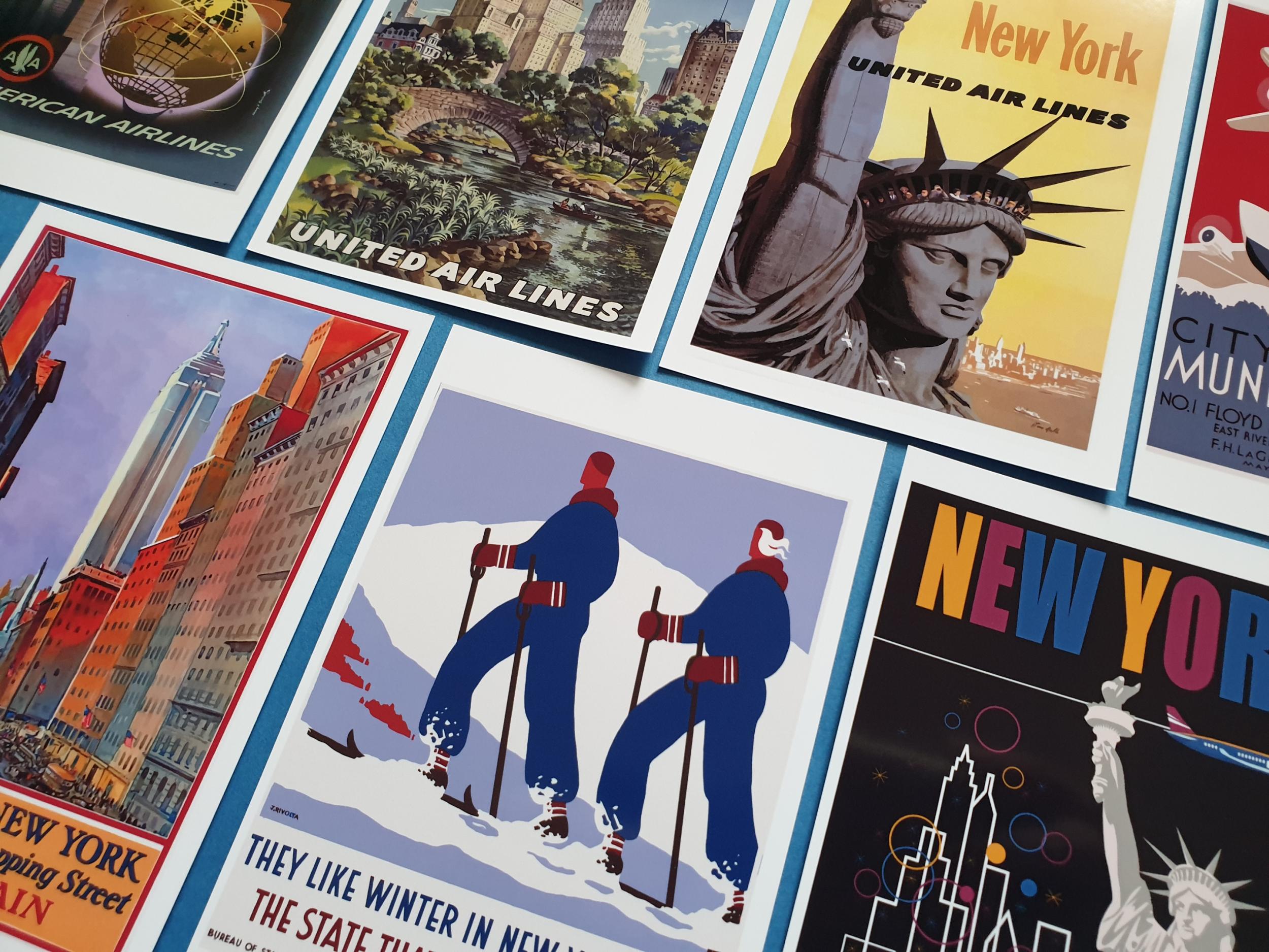 350pcs. Postcard set 23 art 1963-1990