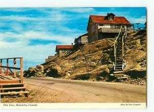 Vintage Postcard Town of Built on RocksFlin Flon Manitoba Canada  # 2701