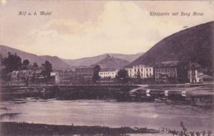 Alf a. d. Motel, Uferpartie mit Burg Arras, Rhineland-Palatinate, Germany, 00...