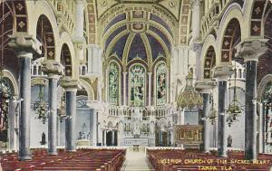 Florida Tampa Interior Of Church Of The Sacred Heart