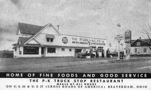 Beaverdam OH P-K Truck Stop Restaurant Fleet-Wing Gas Station U.S. 30 Postcard