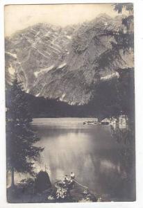 RP  Couple in row boat on Mountain lake, Austria, PU-1906