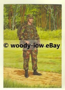 su1467 - US Marine Corps , Marine 2nd Division - artist Bryan Fosten - postcard