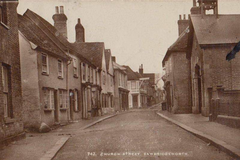 Church Street Sawbridgeworth Vintage Real Photo WW1 1915 Postcard