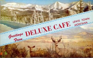Montana Greetings From Deluxe Cafe Lewis Town