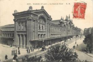 CPA France Paris Gare du Nord Train Station 1914