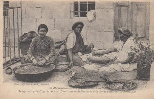 JERUSALEM , ISRAEL , 00-10s ; Grinding corn
