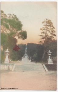 Japan; Toyotomis Tomb RP PPC, Hand Coloured, Unposted c 1910's