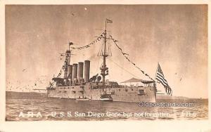 USS San Diego gone but not forgotten Military Battleship Unused