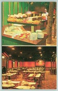 Faribault Minnesota~Mealeys Resaurant~US Hwy 65~I-35~Minnesota Room~Postcard