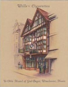 Wills Cigarette Card 2nd Series No 8 Ye Olde Hostel Of God-Begot Winchester H...