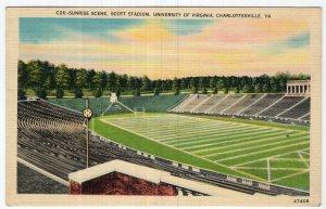 Charlottesville, Va, Sunrise Scene, Scott Stadium, University of Virginia