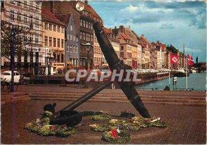 Postcard Modern Nyhavn anchor memory
