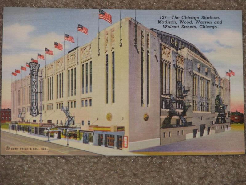 The Chicago Stadium, Madison, Wood, Warren & Wolcott Sts., Chicago, Ill.