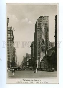 173774 USA Philadelphia North Broad street Vintage postcard