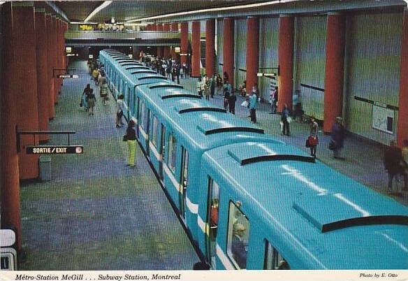 Canada Quebec KcGill Metro Station Subway Station