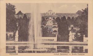 Germany Potsdam Sanssouci Grosse Fontaine 1915