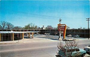 Hot Springs Arkansas~Extra-Length Beds @ Sands Motel~1950s Postcard