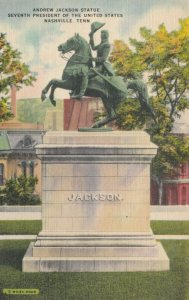 NASHVILLE, Tennessee, 30-40s ; Andrew Jackson Statue