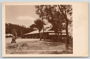 New Market Virginia~Endless Caverns Lodge & Entrance House~1940s Sepia Postcard