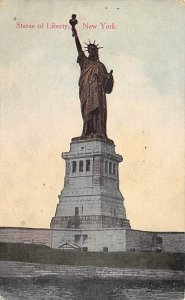Statue of Liberty Post Card New York City, USA 1914