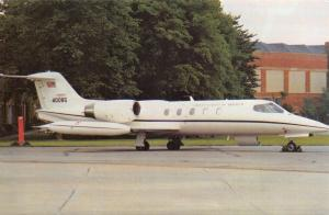 LE Postcard Gates C21A Learjet USAF in Europe, Operational Support Aircraft NT28