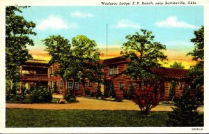 Oklahoma Bartlesville F P Ranch Woolaroc Lodge Curteich