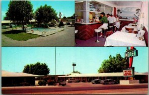 Las Cruces, New Mexico Postcard PARADISE MOTEL Highway 70 / 80 Roadside - 1965