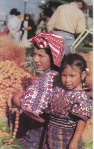 Indian Woman and little girl, Guatemala, Central America, 40-60s