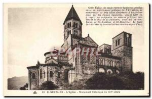 Old Postcard St Nectaire L & # 39Eglise Historical Monument