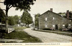 NH - Hooksett.  House Where General Jackson Took Lunch