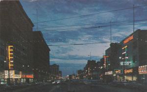 Night View , Portage Avenue , WINNIPEG , Manitoba , Canada , 50-60s