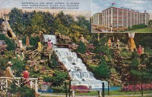 Waterfalls And Rock Garden In Olson Park Surrounding Olson Rug Factory Divers...