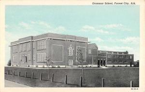 Forrest City Arkansas Grammar School Street View Antique Postcard K43991