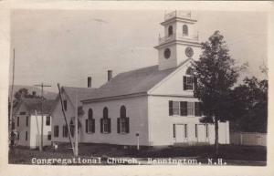 RP: Congregational Church , BENNINGTON , New Hampshire , PU-1922