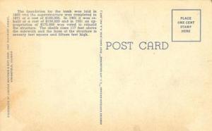 Lincoln Tomb, Springfield Illinois unused linen Postcard