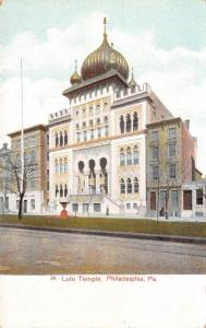 Philadelphia PA~Knights Templar Lulu Temple~Shriners~Close Up~Row Houses~1905