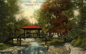 NY - Rochester. Allens Creek, Rustic Bridge