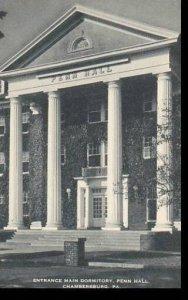 Pennsylvania Chambersburg Entrance Main Dormitory Penn Hall Artvue