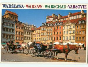 Warszawa Rynek Starego Miasta Market Square Warsaw Warschau Var Postcard  # 7264