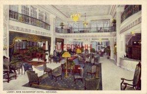 LOBBY, NEW KAISERHOF HOTEL, CHICAGO, IL Roessler & Teich, Proprietors