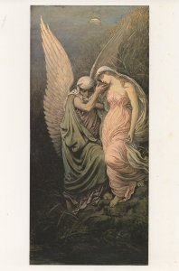 Elihu Vedder The Cup Of Death Tate Gallery Painting Postcard